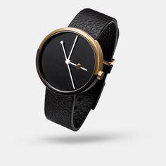 eclipse minimal black gold watch | aark collective | unisex men women