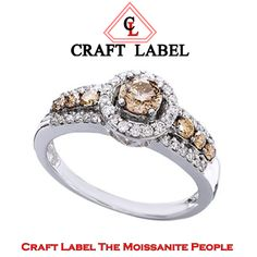 """3/4 Ct Chocolate & White Round Brilliant Cut 14K Halo Engagement Ring """"Mother\'s Day Gift"""". Starting at $1"""