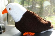Knitting Pattern: Bald Eagle by ArtByRhea on Etsy