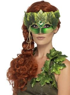 Smiffys Unisex Forest Nymph Eye mask, Fabric Leaves and Jewels, Green, One Size, 43748 Best Halloween Costumes & Dresses Masquerade Fancy Dress, Fairy Fancy Dress, Ladies Fancy Dress, Masquerade Party, Halloween Eyes, Halloween Fancy Dress, Halloween Costumes, Adult Halloween, Terrifying Halloween