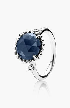 Free shipping and returns on PANDORA 'Midnight Star' Stone Ring at Nordstrom.com. A rose-cut stone twinkles with deep, dark color from within a silver-beaded ring.