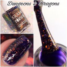 Dungeons & Dragons is part of the @glampolish_  Wizardly Ways collection releasing Thursday November 24 at 3pm EST. The full collection is on my blog along with her Black Friday deals! (Link in my bio.) #glampolish #glamwizardlyways #macro #macronails #fbpolishpaws #prsample