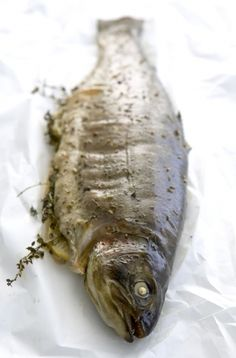 NOMU is an original South African food and lifestyle concept by Tracy Foulkes. Trout Recipes, South African Recipes, Food For Thought, Fish, Pisces