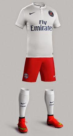 nike psg Exterieur maillot de foot soldes blanc