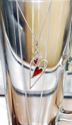 Stained glass heart pendant by MonkeytoElephant on Etsy