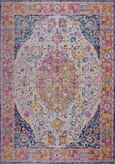 Set a traditional foundation for your stylish space – inside or outdoors – with this oriental area rug, showcasing an Persian motif in shades of blue, lilac pink and hints of yellow. Persian Motifs, Deck Decorating, Polypropylene Rugs, Vintage Florida, Pink Blue, Blue Orange, Decks And Porches, Indoor Outdoor Area Rugs, Power Loom