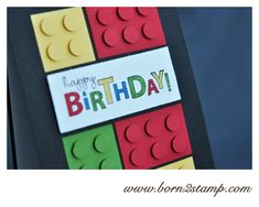 Stampin' UP! Geburtstagskarte mit Bring on the cake Legokarte
