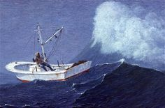 'Open Workboat and Wave' An older painting of mine. www.robertbdance.com <----- Check out my latest paintings!