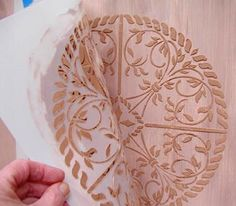How to stencil with joint compound, plaster of paris or cement