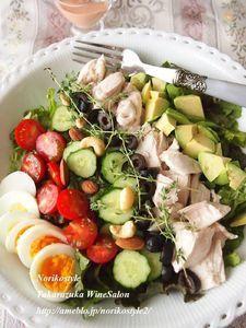コブサラダ風ボリュームサラダ Power Salad, Cooking Recipes, Healthy Recipes, Cafe Food, Vegetable Salad, Japanese Food, Cobb Salad, Salad Recipes, Food And Drink