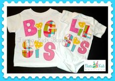 Matching sibling shirts Big Sis Lil Sis by FiestaKidsBoutique