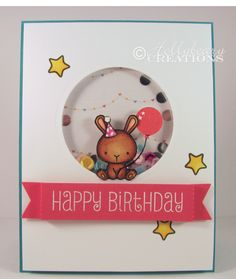 Hollybeary Creations, Mama Elephant , Carnival Cupcakes , Birthday Cards , Shaker Cards, Pretty Pink Posh, Copic Coloring