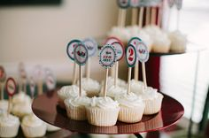 Red and Turquoise Vintage Airplane Birthday Party