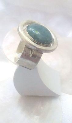 Silver sterling ring Aquamarine Women ring Handmade by MaliKedem
