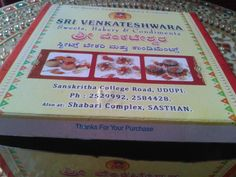 #southindians are so polite & humble! Check out the #thankyou message when this #sweetbox from #udupi is opened!