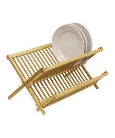 $12. Look what I found on #zulily! Bamboo Folding Dish Rack #zulilyfinds
