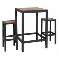 Visuel Brew mange debout + 4 tabourets Furniture, Wood, Bar Table, Industrial Furniture, Deco, Modern, Table, Home Decor, Bar