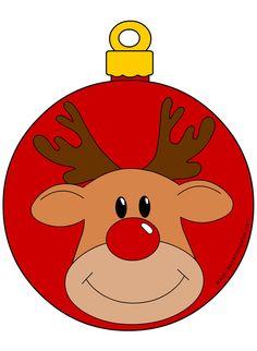 pallina-renna Felt Christmas Decorations, Christmas Clipart, Christmas Gift Wrapping, Diy Christmas Ornaments, Christmas Printables, Christmas Rock, Christmas Baby, Christmas Colors, Christmas Photo Booth