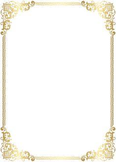 Gold Border Frame Transparent Clip Art Image is part of Frame template - Certificate Border, Certificate Design Template, Certificate Background, Frame Border Design, Page Borders Design, Borders And Frames, Borders For Paper, Molduras Vintage, Frame Template