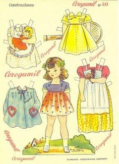 paper doll muneca recortables | Muñecas recortables II, ALBARES
