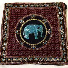Black & brown elephant handbag