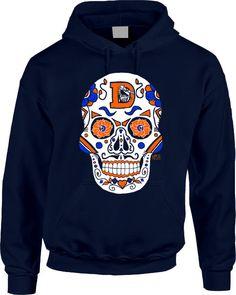 Denver Broncos Hoodie  Sugar Skull by AFApparel on Etsy