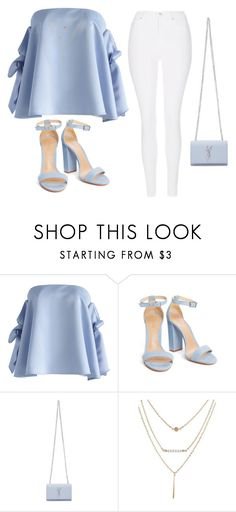 """Love it"" by maryamlovesbeauty ❤ liked on Polyvore featuring Chicwish, Yves Saint Laurent and Topshop"
