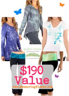 Enter to win a $190 prize pack from Earth Yoga Clothing! #fashion #giveaway #sweepstakes #FashionistaEvents  End 3/14