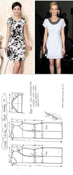 Pattern of a summer dress with lateral reliefs (Sewing and a cut) | the Inspiration of the Needlewoman Magazine