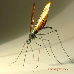 escultura de metal de mosquito por thefocarinostudio en Etsy