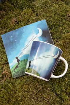 Chasing The Moon Napkin 33x33 cm + Trend Mug Gift Box Chasing The Moon #ppd #paperproductsdesign #mystic #moon #mond #stars #sterne #design #art #catrin #welzstein