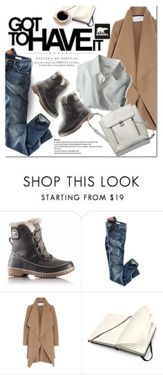 """Introducing the 2015 Winter Collection from SOREL: Contest Entry"" by dian-lado ❤ liked on Polyvore featuring SOREL, H&M, Harris Wharf London and Moleskine"