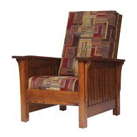 Frontier Amish Furniture 1500 MISSION CHAIR 3075Q Accent Chair