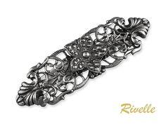 Metall Haarspange Jugendstil Filigrane Haarspange Vintage   Etsy Diamond, Bracelets, Etsy, Vintage, Hair, France, Jewellery, Fashion, Hair Sprays