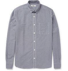 YMC Check-Print Cotton Oxford Shirt | MR PORTER