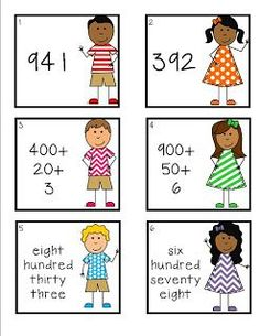 Free activity - Working with numbers in standard form, expanded notation and word form.