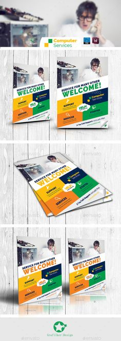 Computer Repair Flyer Template  Computer Repair Flyer Template And