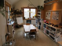 A really lovely atelier - includes slide show w fabulous writing area!