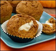 HG Cream Cheese Pumpkin Muffin (fat free cream cheese, egg whites) | hungry girl