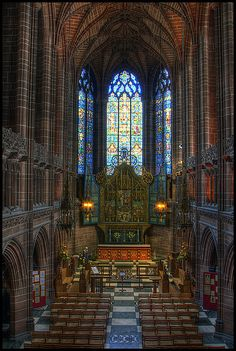 """Liverpool Cathedral - Lady Chapel"" By Alex Basnett Shared by Motorcycle Fairings - Motocc Liverpool Cathedral, Liverpool History, Liverpool Home, Liverpool England, Anglican Cathedral, Cathedral Church, Leeds, Bristol, Place Of Worship"