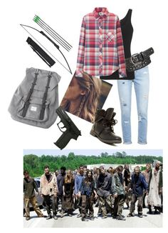 """""""The walking dead"""" by xxabbeybearxx ❤ liked on Polyvore featuring Paige Denim, James Perse, Uniqlo, maurices, Rock & Candy and Herschel"""