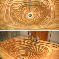 One-of-a-kind Plywood sink.