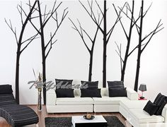 wall decal Vinyl Wall Decal Nature Design Tree Wall by TUYAdecals