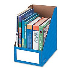 Bankers Box® Magazine File Holders provide extra wide storage for organizing oversized materials. Holds magazines, catalogs, file folders, project binders, and text books. Perfect for shared classroom storage or teacher desktop storage. Office Supply Organization, Storage Organization, Classroom Organization, Classroom Decor, Binder Storage, Classroom Layout, Organization Ideas, Magazine File Holders, Magazine Files