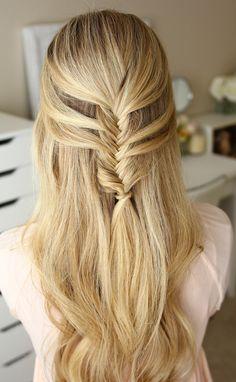 Mermaid fishtail hairstyle.