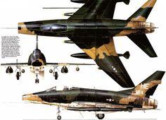 F-100 camuflagem padrão Vietnam.