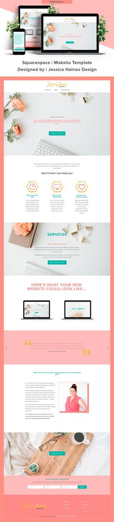 Jessica Haines Design   Custom Squarespace website design for my Squarespace webdesign and branding company. If you want to help take your business to the next level, click through to see what your new Squarespace website and brand refresh could look like!    www.jessicahainesdesign.com Graphic Design Projects, Website, Business Design, Portfolio Design, Service Design, Branding Design, My Design, Portfolio Design Layouts, Brand Design