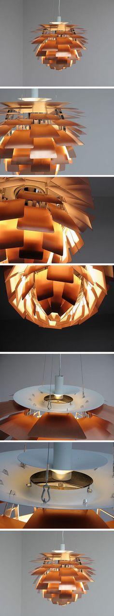 De PH Artichoke - 1958 - hanglamp - koper - sfeerverlichting - exclusieve hanglamp - Novalis.O - Louis Poulsen - te zien in de showroom