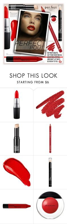 """Wear Red Lipstick"" by fassionista ❤ liked on Polyvore featuring beauty, MAC Cosmetics, Make, Dr.Hauschka, Burberry, NYX, Elizabeth Arden, LIPSTICK, redlips and beautyset"