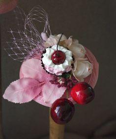 Cherry Cupcake Fascinator Headpiece by Jazzafine  DaWanda.com
